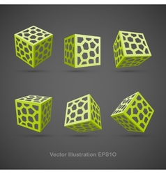 Set of abstract cubes vector
