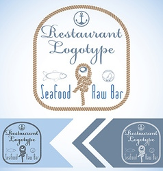Logotype mock up for seafood restaurant and raw vector