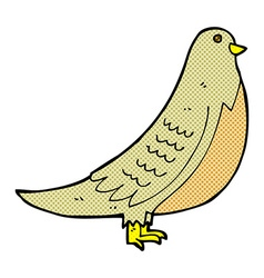 Comic cartoon common bird vector