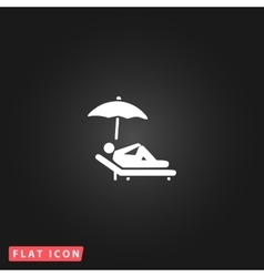 Relax under an umbrella on a lounger vector