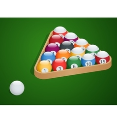 Set of billiard balls complete billiard balls vector