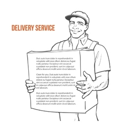 Delivery of goods moving companies vector