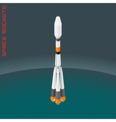 Isometric russian space rocket souz vector