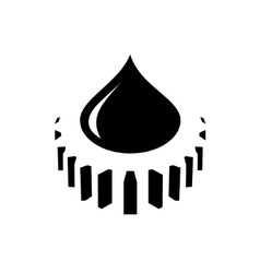 Abstract oil industry sign vector