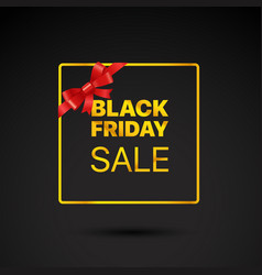 black friday golden frame black friday sale tag vector image