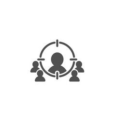 Business targeting simple icon target strategy vector