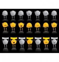 emotion smileys vector image vector image