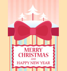 flat of merry christmas and vector image