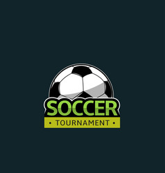 football soccer tournament vector image vector image