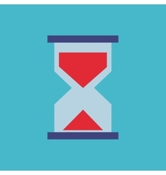 hourglass flat isolated icon vector image