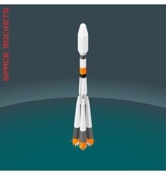 Isometric russian space rocket souz vector image