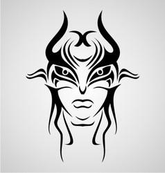 Mask tribal vector