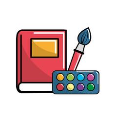 notebook school tools icon vector image vector image
