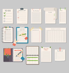 notebook templates set vector image vector image