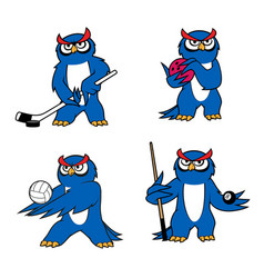 owl bird mascot for sport club or team design vector image vector image