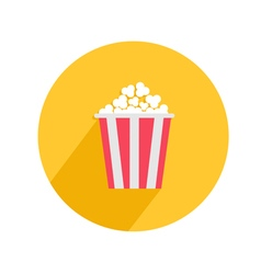 Popcorn round circle icon in flat design style big vector