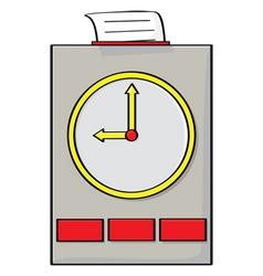 Punch clock vector
