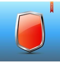 Realistic shield vector image