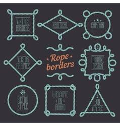 Rope borders set 7 vector