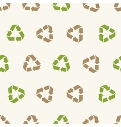 Seamless recycling sign pattern for vector image