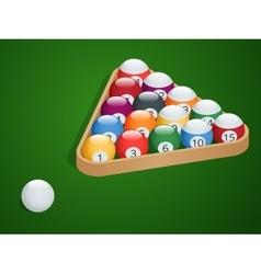 Set of billiard balls Complete Billiard Balls vector image