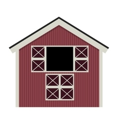 silhouette colorful with barn of two floors vector image vector image