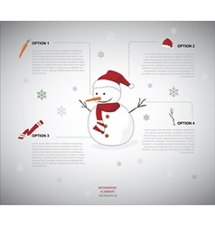 Snowman infographic vector image vector image