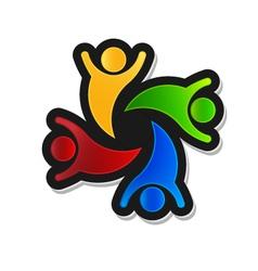 Teamwork party 4 logo design element vector