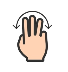 Three fingers rotate vector