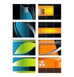 Tri-fold brochure design set collection vector