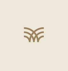 Universal linear logo design creative bull horns vector