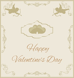 Valentines Day in vintage style vector image