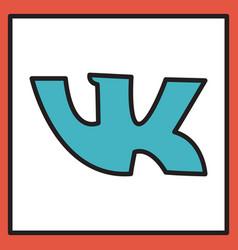 Vkontakte icon on background vector