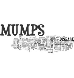 what you need to know about mumps text word cloud vector image vector image