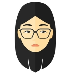 Young depressed woman vector