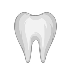 Tooth icon black monochrome style vector