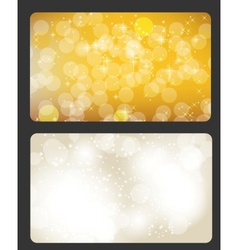 Set of cards with Christmas BALLS stars and vector image