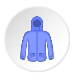 Mens winter jacket icon cartoon style vector