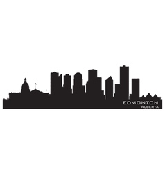 Edmonton canada skyline detailed silhouette vector