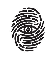 Fingerprint with eye vector