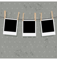Photo Frames on Rope8 vector image