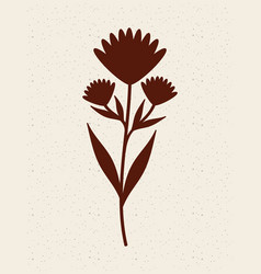 Silhouette of plant vector