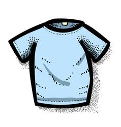 Cartoon image of shirt icon t-shirt symbol vector