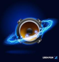 Sound high voltage vector image