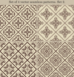 Set of 4 vintage seamless patternsset 2 vector