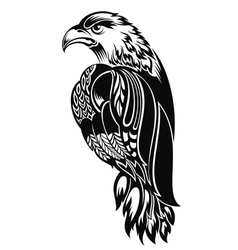 Detailed decorative hand drawn eagle vector