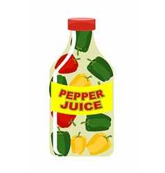 Pepper juice juice from fresh vegetables colored vector
