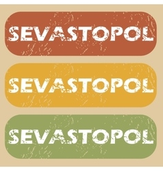Vintage sevastopol stamp set vector