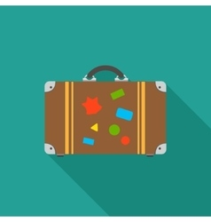 Tourist bag icon vector