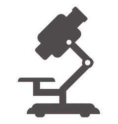 Single microscope icon vector